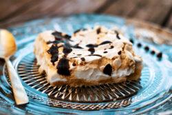 עוגת קצף וקצפת טבעונית