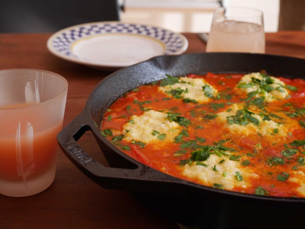 The best way to open you weekend. Sweet Corn Shakshouka