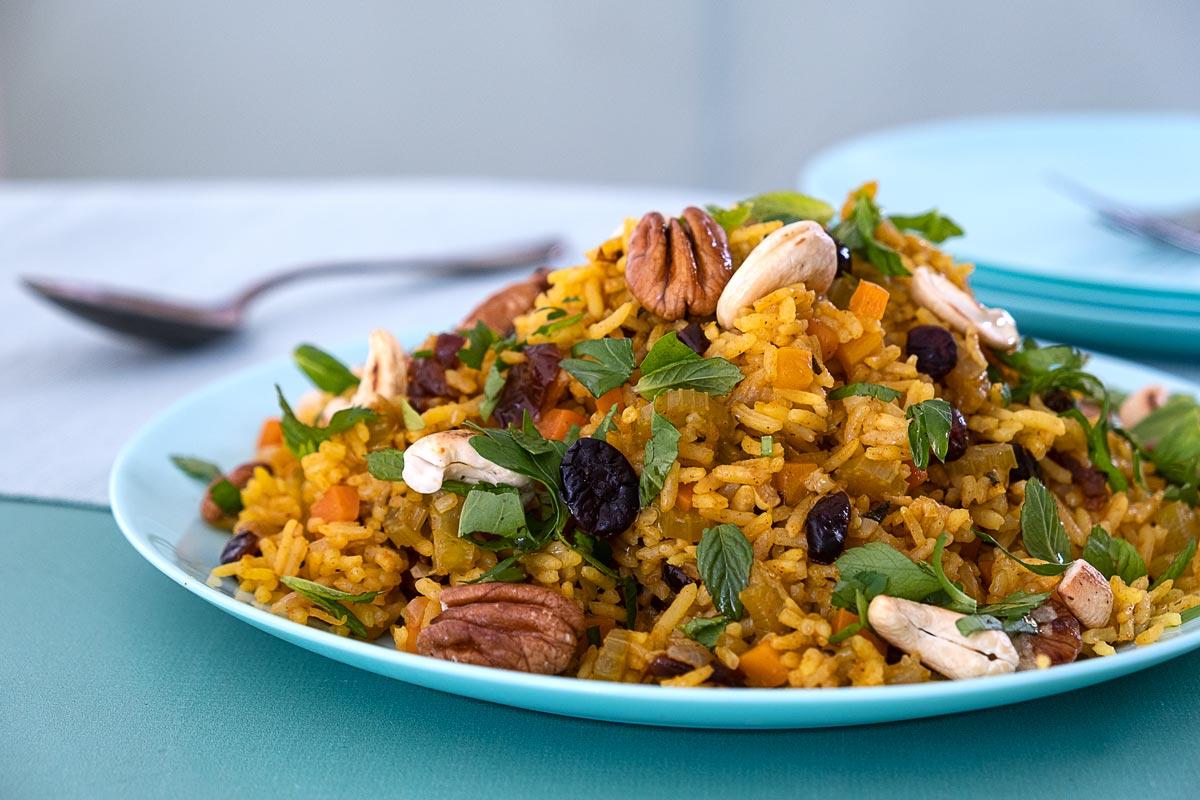 אורז פרסי חגיגי עם הפתעות