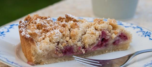 עוגה טבעונית. טארט שקדים ופירות יער