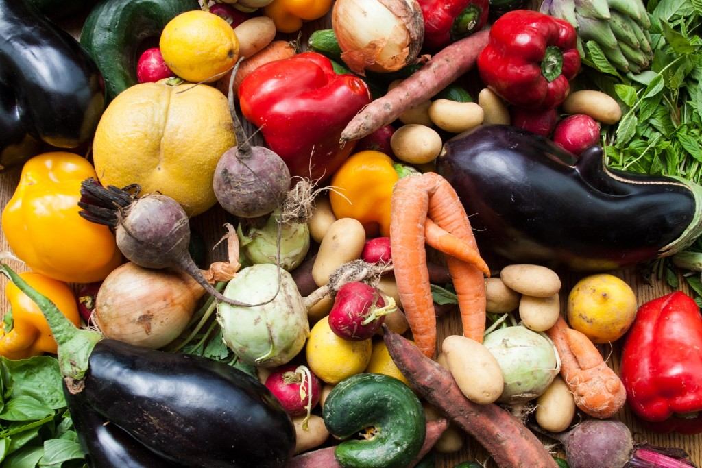 למי קראת מכוער? המון ירקות נהדרים שאספתי במרכז של לקט ישראל