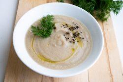 מרק כרובית, לפת וחצילים קלויים