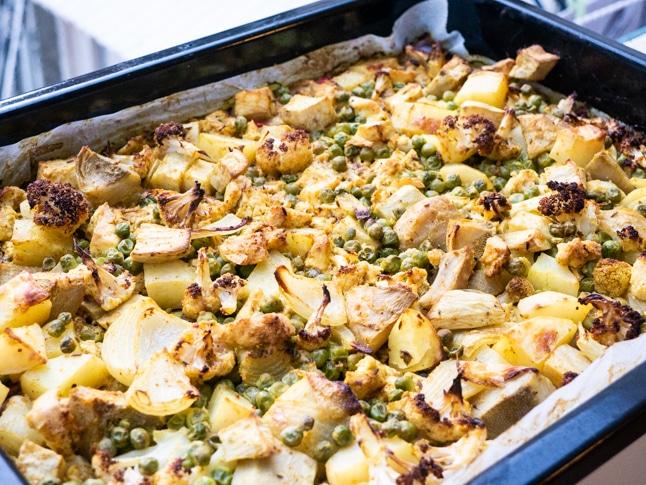 ירקות מוקרמים ברוטב קארי הודי