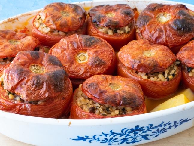 עגבניות ממולאות באורז מלא