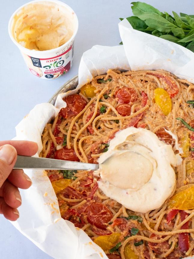 פאי ספגטי עם ממרח סויה בניחוח טוסקנה