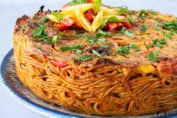 פשטידת פסטה איטלקית ברוטב רוזה