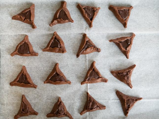 אוזני המן שוקולדיות טבעוניות