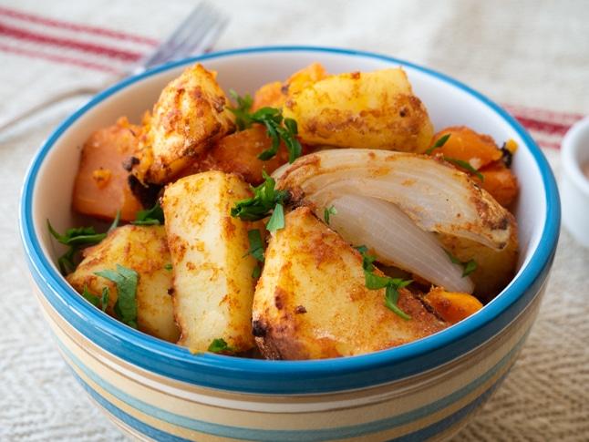 תפוחי אדמה אפויים בסגנון ספרדי