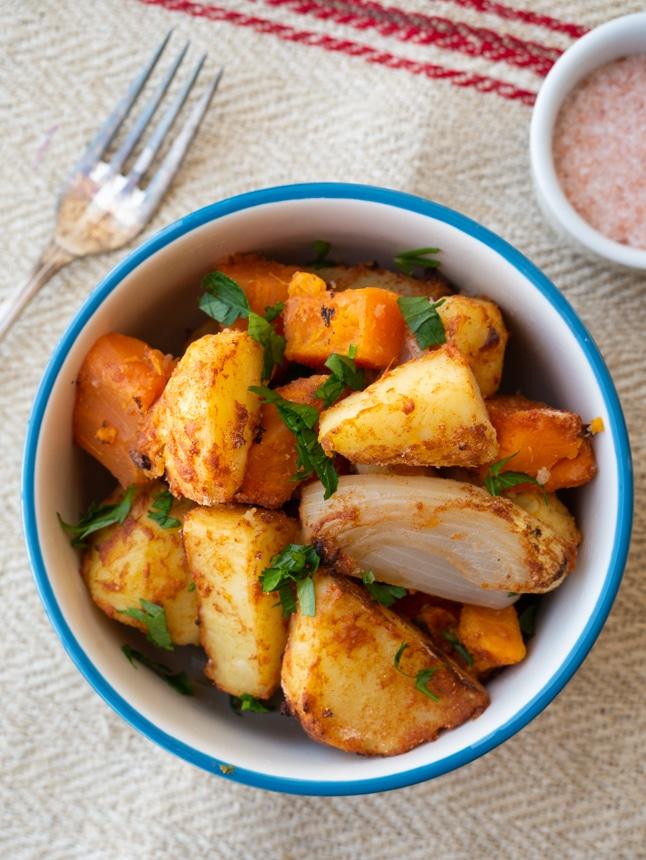 תפוחי אדמה ובטטות בתנור