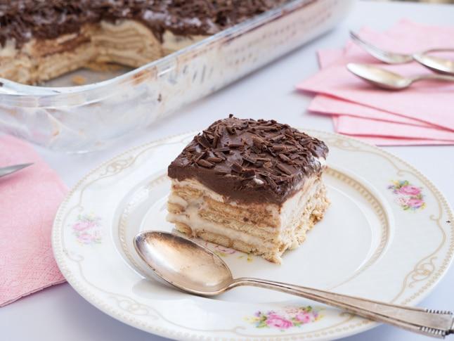 עוגת ביסקוויטים בלי חלב