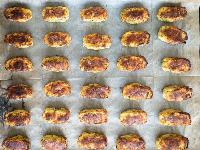 חטיפי תפוחי אדמה וזוקיני
