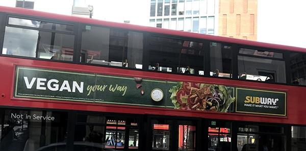 Subway מפרסמת בלונדון את ההיצע הטבעוני החדש