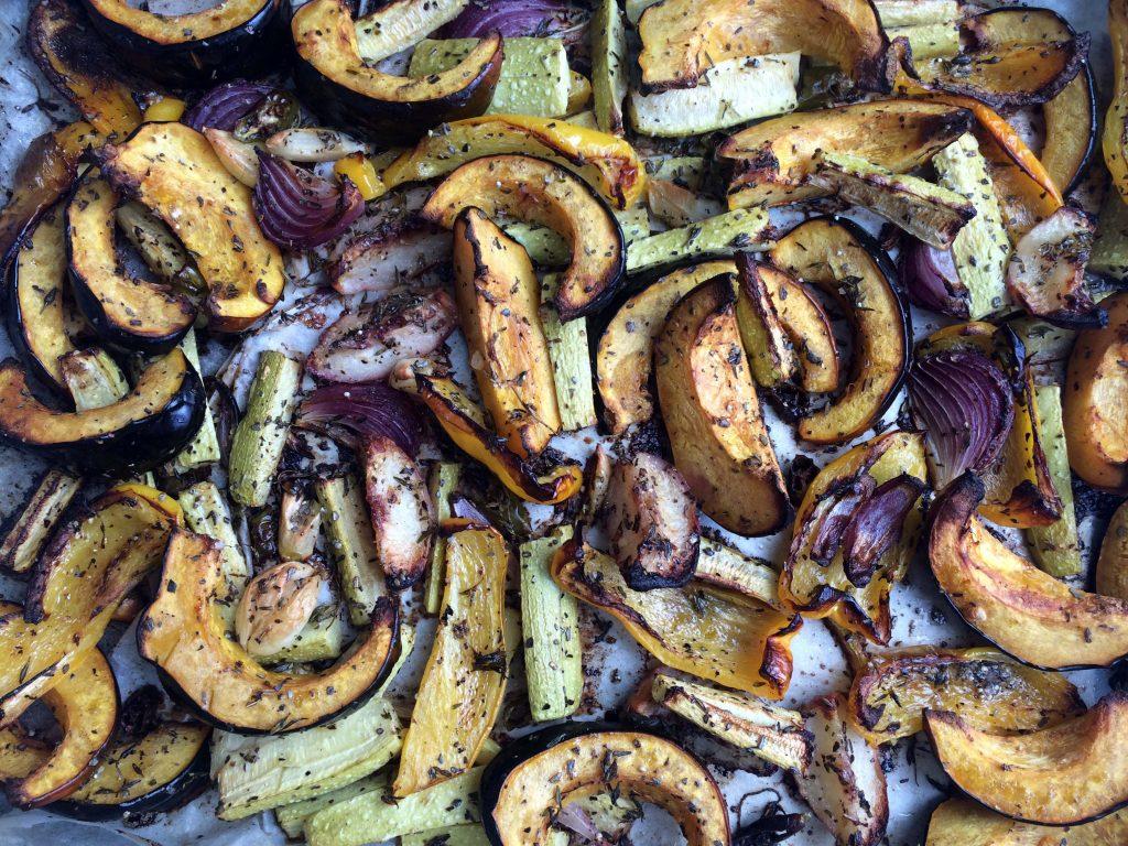 אחרי שהתנור עשה להם טוב. ירקות אנטיפסטי