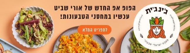 ג'ינג'ית - מטבח ישראלי טבעוני באנר גדול