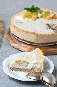עוגת שמנת טבעונית לשבועות