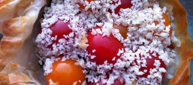 טארט עגבניות טבעוני. צילום: אורי שביט