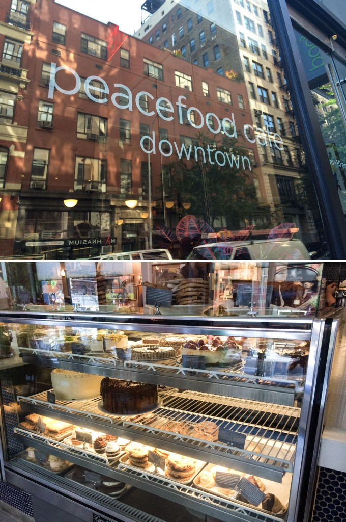 קודם אוכלים ואחכ מתנפלים על הויטרינה. peacefood cafe